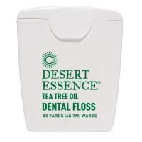 Desert Essence, ティートゥリーオイル デンタルフロス, ワックスタイプ (45.7 m)