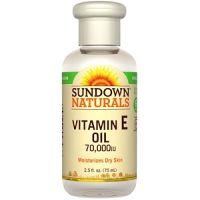 Rexall Sundown Naturals, ビタミン E オイル, 70,000 IU (75 ml)